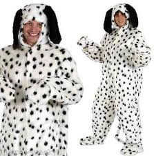 Dalmatian Costume Ladies Mens Fur Dalmation Dalmatian Spotty Dog Animal Fancy Dress