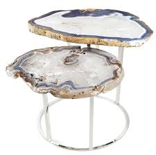 faux agate side table buy quinn two tier agate coffee table from matthew studios inc on