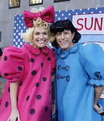 blue and pink halloween background kathie lee and hoda go retro as regis and kathie lee for