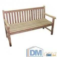 panchine legno panca panchina ledusa 3 posti 150x66xh89 legno teak esterno
