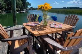 42 Patio Table Wicker Cast Aluminium Fabrics Pvc Pipe Furniture Charleston Wood