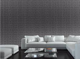 contemporary modern geometric wallpaper neutral greek key design