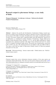 covering letter for manuscript submission in a journal research output in pheromone biology a case study of india springer