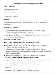 telecom sales executive resume sample resume template free samples