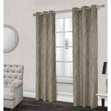 Grommet Drapes Finesse Textured Grommet Curtain Panel Natural 84 In At Home