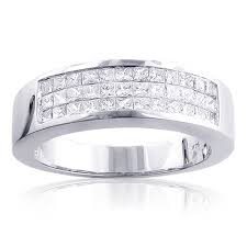 men diamond wedding bands diamond wedding band 1 5ct 14k gold invisible set princess cut