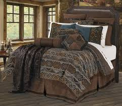 Duvet Covers Brown And Blue Amazon Com Hiend Accents Rio Grande Western Duvet Cover Set King
