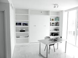 Minimalist Work Desk Awesome Minimalist White Interior Design With Fabulous Desk And