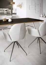 metal and leather dining chairs give a contemporary look to your interior with this very classy