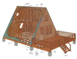 free a frame cabin plans how to build an a frame diy cabin construction and house