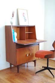 Single Desk Design Mid Century Secretary Desk Fits Office With Elegant Hunter Homesfeed