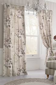 buy mauve floral poetry printed pencil pleat curtains from the