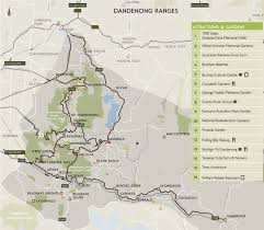 Victoria Falls Map Dandenong Ranges Map Attractions Tourist Route Map Melbourne Pdf