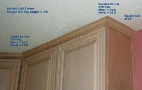 cabinet outside corner molding how to cut crown molding inside corners for cabinets www