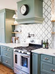 designing country kitchen with rustic island home design and decor green country photos hgtv kitchen with tile decorative backsplash cabinets and floating shelf storage kitchen