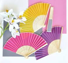 silk fan silk fans bamboo fan wedding favors tea and becky