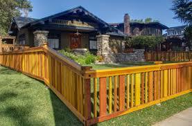 new redwood fence for craftsman house nott u0026 associates