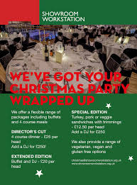 showroom workstation christmas party venues in yorkshire