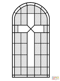 cross coloring pages luxury cross stained glass window coloring