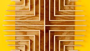 square wood wall wood square circle wall