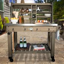 Patio Serving Table Outdoor Patio Serving Cart Deck Pool Prep Station Table