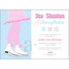 Invitation Cards For Birthday Party Printable 11 Best Images Of Ice Skating Party Invitation Free Printable