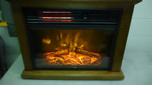 cedarstone infrared electric fireplace 238274 youtube