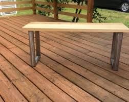 Outdoor Modern Bench Modern Bench Etsy