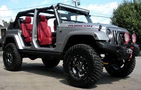 jeep wrangler custom lights custom jeep rubicon side angle open top doors removed 2 led lighting