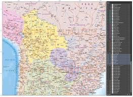 Back Road Maps Digital Vector Bolivia Paraguay Deluxe Political Road U0026 Rail Map