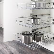 ikea kitchen cabinets on wheels utrusta wire basket 24x24