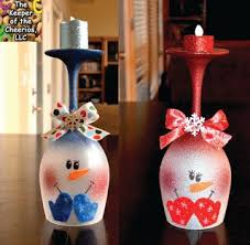 Christmas Wine Christmas Wine Glass Candle Holders Diy Ideas The Whoot