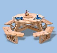 Wooden Hexagon Picnic Table Plans by 9 Best Picnic Table Images On Pinterest Octagon Picnic Table