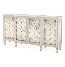 Antique White Sideboard Buffet by Bonet Hollywood Regency Grillwork Antique White Mirrored Sideboard