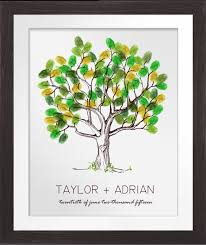 baby shower fingerprint tree nothing mundane fingerprint guestbook page