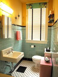 1940s bathroom design kristen and paul s 1940s style aqua and black tile bathroom built
