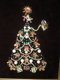 vintage jewelry christmas tree red u0026 green rhinestone garland