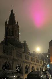 Pink Light Pictured The Mystery Pink Light That Appeared Over London Daily