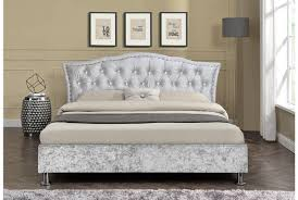 silver bed georgio crushed silver diamante headboard designer bed cool