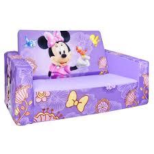 flip open sofa amazon com marshmallow fun furniture flip open sofa minnie toys
