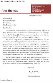 margin in application letter