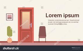 office room door corridor waiting hallway stock vector 494443294