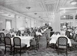 Titanic First Class Dining Room S S Majestic First Class Restaurants And Dining Saloon Gg Archives