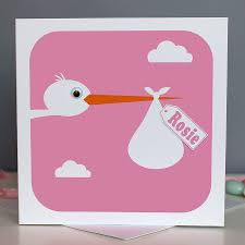 baby cards personalised new baby card by stripeycats notonthehighstreet