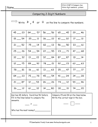 free comparing numbers worksheets with comparing numbers to 1000