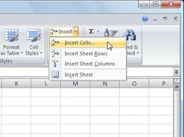inserting cells rows or columns in excel 2007 dummies