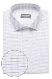 white graph check twill shirt