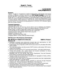 sap security consultant cover letter