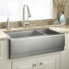 Kitchen Faucets And Sinks by Kitchen Double Bowl Stainless Steel Apron Front Sink With Kitchen