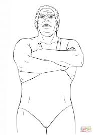wwe andre the giant coloring page free printable coloring pages